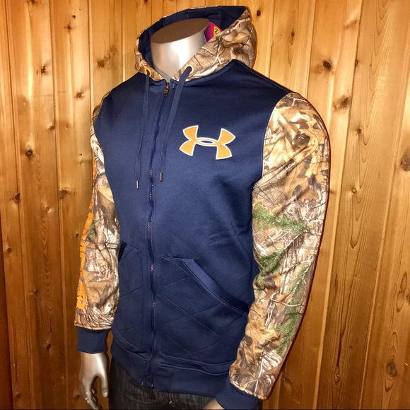 c7539b4464 NWT! Under Armour Wooded Camo Men's Large Jacket NWT